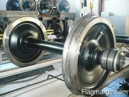 Колесные пары для шахтных электровозов
