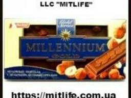 Молочный Шоколад Millennium с орехом Nut