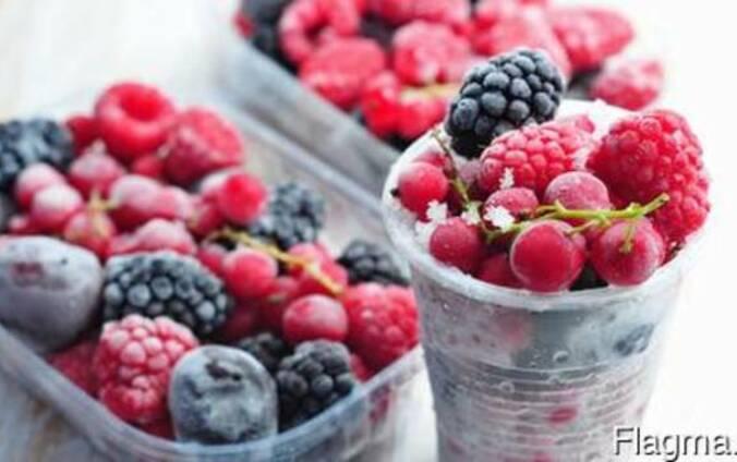 Замороженные ягоды, фрукты, овощи. Frozen berries, fruits, v