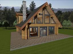 Дом с бревна