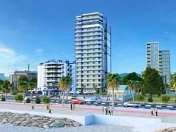 Продажа квартиры в Батуми кв. 34.51м боковой Вид на море Черный каркас этаж 5
