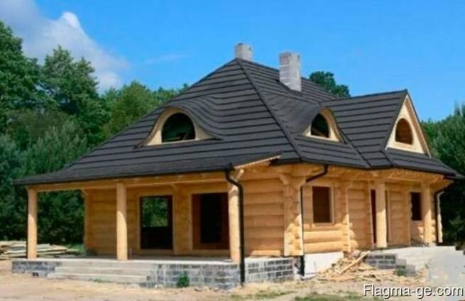 Строительство в Грузии домов из дерева срубы.