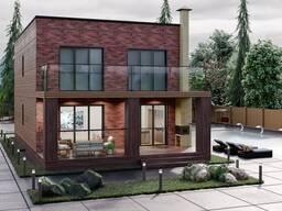Типовой проект дома 158 кв. м. с плоской кровлей